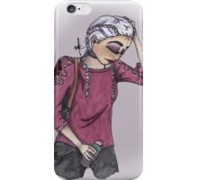 SNOW HEAD - DUTCH BRAIDS iPhone Case/Skin