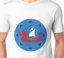 Viking Ship Emblem Unisex T-Shirt
