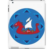 Viking Ship Emblem iPad Case/Skin