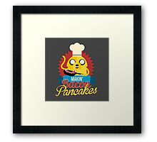 Jake The Dog Making Bacon Pancakes Framed Print