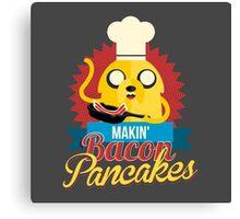 Jake The Dog Making Bacon Pancakes Canvas Print