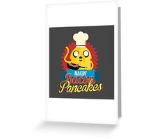 Jake The Dog Making Bacon Pancakes Greeting Card