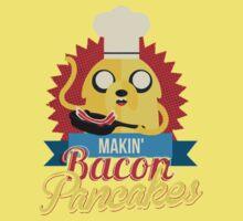 Jake The Dog Making Bacon Pancakes Kids Tee