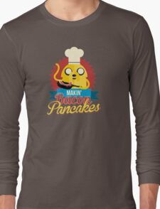 Jake The Dog Making Bacon Pancakes Long Sleeve T-Shirt