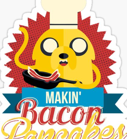 Jake The Dog Making Bacon Pancakes Sticker