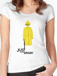 Just Keep Singin' Women's Fitted Scoop T-Shirt
