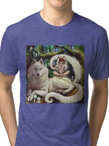 Wolf Princess in the Forest Tri-blend T-Shirt