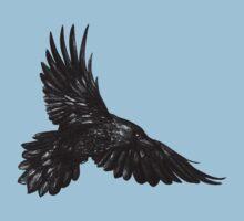 Raven in flight Kids Tee