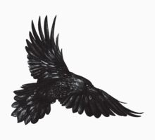 Raven in flight One Piece - Short Sleeve