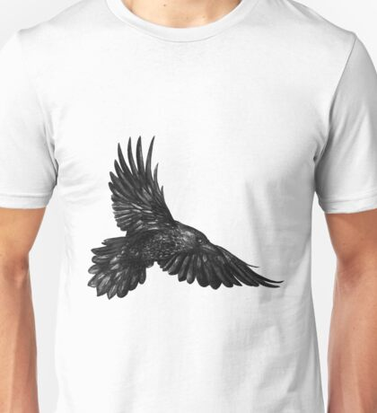 Raven in flight Unisex T-Shirt