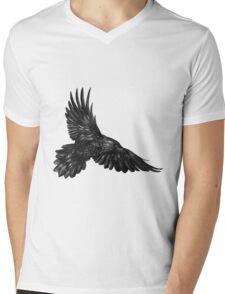 Raven in flight Mens V-Neck T-Shirt