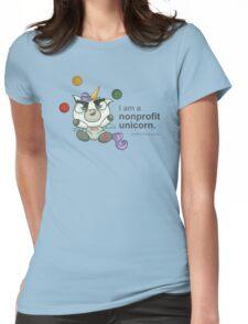 I AM A NONPROFIT UNICORN! Womens Fitted T-Shirt