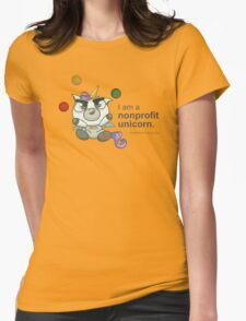 I AM A NONPROFIT UNICORN! Womens Fitted T-Shirt