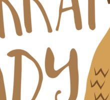 Meerkat Lady Sticker