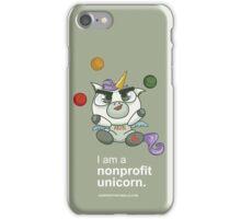 I AM A NONPROFIT UNICORN (dark)! iPhone Case/Skin