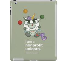 I AM A NONPROFIT UNICORN (dark)! iPad Case/Skin