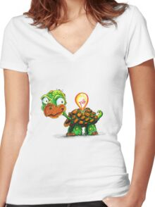 A Bright Turtle Women's Fitted V-Neck T-Shirt