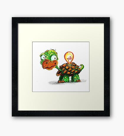 A Bright Turtle Framed Print
