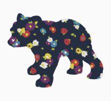 Floral Bear Cub Kids Tee