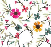 Floral Kitten Sticker