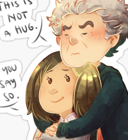Doctor Who - Not a hug Sticker