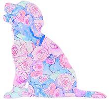 Sitting Floral Puppy by JessDesignsxx