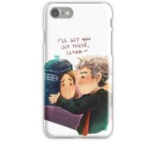 Doctor Who - TARDIS escape 2 iPhone Case/Skin