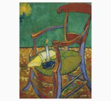 1888-Vincent van Gogh-Gauguin's chair-72,5x90,3 One Piece - Short Sleeve
