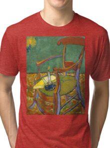 1888-Vincent van Gogh-Gauguin's chair-72,5x90,3 Tri-blend T-Shirt