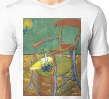 1888-Vincent van Gogh-Gauguin's chair-72,5x90,3 Unisex T-Shirt