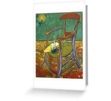 1888-Vincent van Gogh-Gauguin's chair-72,5x90,3 Greeting Card