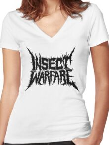 Insect Warfare Women's Fitted V-Neck T-Shirt