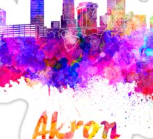 Akron skyline in watercolor Sticker