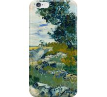 1888-Vincent van Gogh-Rocks with Oak Tree-54,94x65,74 iPhone Case/Skin