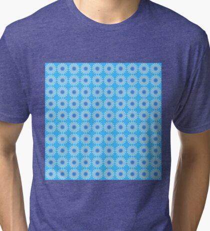 Mystical Snow Cloud Mandala Wallpaper Tri-blend T-Shirt