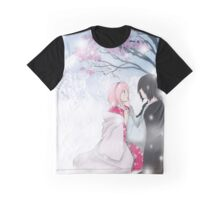 Snow and Sakura - SasuSaku  Graphic T-Shirt
