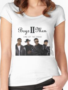 Boys 2 Men - End of The Road Women's Fitted Scoop T-Shirt