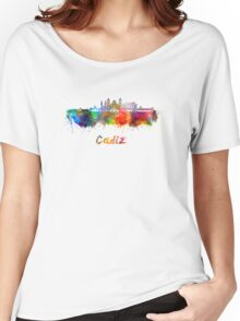 Cadiz skyline in watercolor Women's Relaxed Fit T-Shirt
