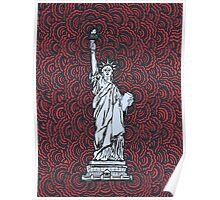 Statue of Liberty Drawing Meditation Poster
