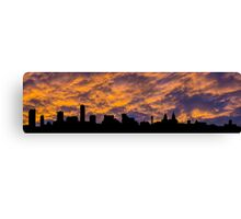 Liverpool waterfront skyline silhouette Canvas Print