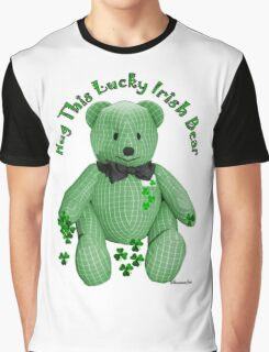 Hug This Lucky Irish Bear ♣ Graphic T-Shirt