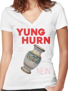 Yung Hurn (Nein) Women's Fitted V-Neck T-Shirt