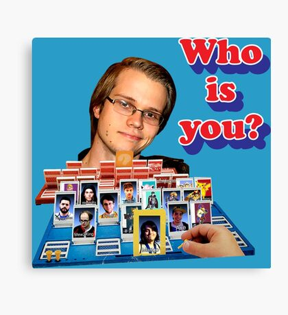 Who is you? Armada SSBM Guess who Canvas Print