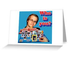 Who is you? Armada SSBM Guess who Greeting Card