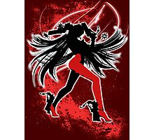 Super Smash Bros. Red/White Bayonetta (Default) Silhouette Photographic Print