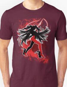 Super Smash Bros. Red/White Bayonetta (Default) Silhouette T-Shirt