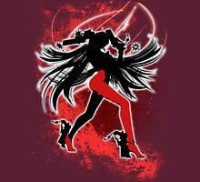 Super Smash Bros. Red/White Bayonetta (Default) Silhouette Unisex T-Shirt