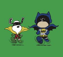 Batman and Robin Peanuts Baby Tee