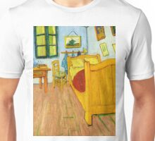 1888-Vincent van Gogh-The Bedroom-72x90 Unisex T-Shirt