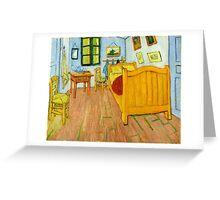 1888-Vincent van Gogh-The Bedroom-72x90 Greeting Card